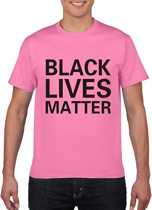 LALAWO Camiseta, Camiseta Negra De Algodón De Manga Corta De Lives Matter para Parejas, Mujeres, Hombres,Rosado,XL: Amazon.es: Hogar