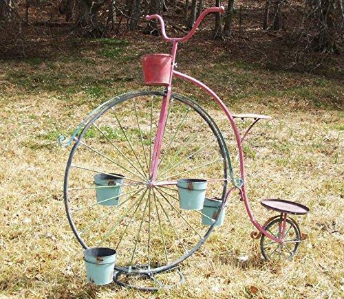 Flor soporte bicicleta Jardín Decoración XXL 175 cm Metal con 5 ...
