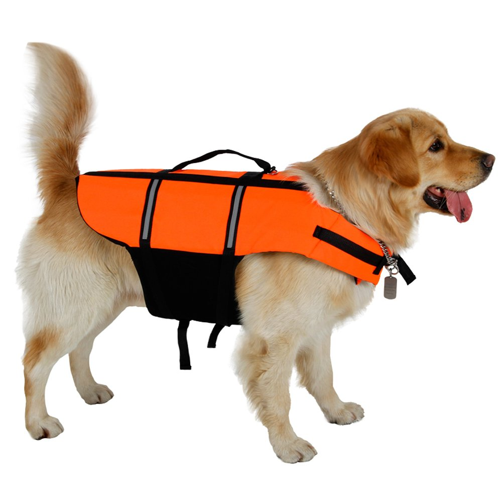PAWZ Road Pet Swim Life Jacket Dog Life Vest For Swimming Trainning Bright Color Size 5