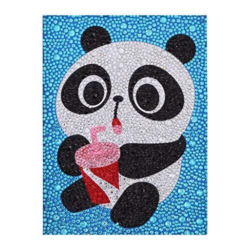 ZSNUOK Diamond Painting Kits for Kids, Diamond Painting for Children Full Crystal Drills Mosaic Making Decorative Kits DIY Paint with Diamonds Arts Crafts - Coke Panda ()