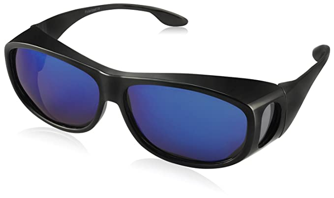 e198ada57de TINHAO Polarized Solar Shield Fitover Sunglasses - Wear Over Prescription  Glasses.Mirrored Lenses (Oval