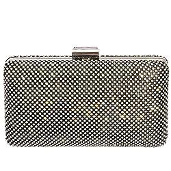 Digabi Luxury Rhinestone Purses women Crystal Evening Clutch Bags (One Size : 6.9X4.2X2 IN, Black)