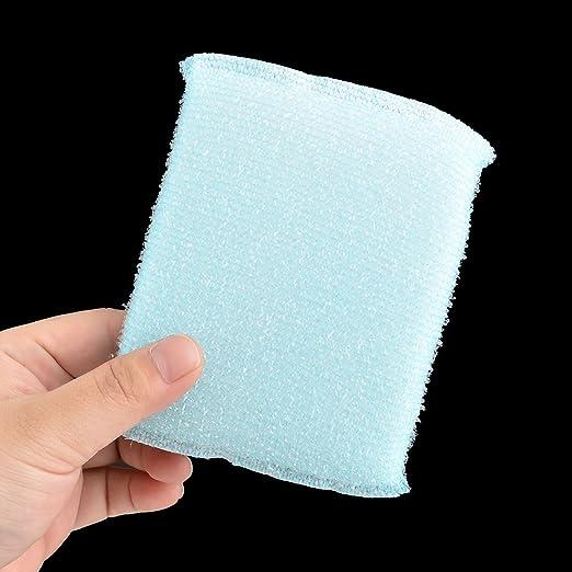 Amazon.com: eDealMax Esponja casa cocina Tazón Lava la placa Herramienta de efecto panorámico del Plato Cepillo de limpieza 5pcs Azul: Health & Personal ...