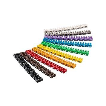 """Goobay Clips para marcar Cables 0-9"""" por diámetro, de Colores Coloreado 2"""