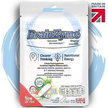 BrainZyme® Original for Concentration & Motivation: UK's 1st Specialist  Brain Supplement Natural Nootropic Enhancer: Matcha, Caffeine + L-Theanine,