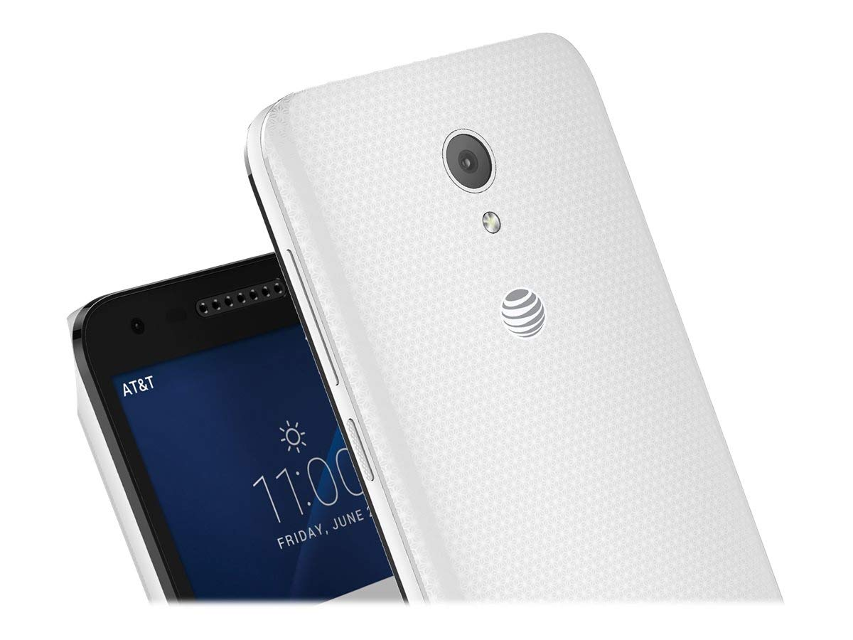 Alcatel - CAMEOX 4G LTE with 16GB Memory Cell Phone - Arctic White (AT&T)