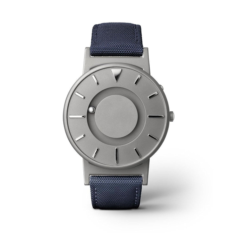 eone BRADLEY CLASSIC Unisex Uhr - Leder- Stoff Armband aqua