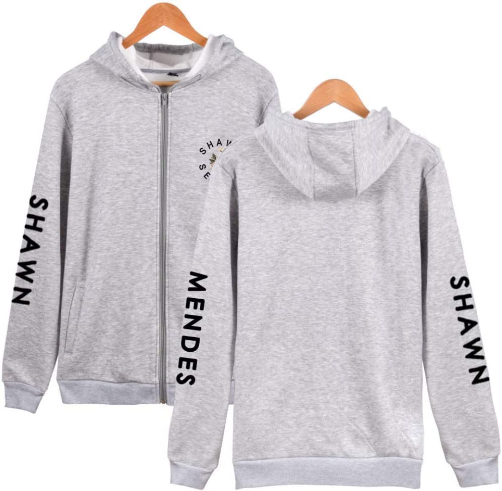 JJZHY Shawn Mendes Zipper Solid Color Long-Sleeved Hoodie Unisex The Best Gift for Friends