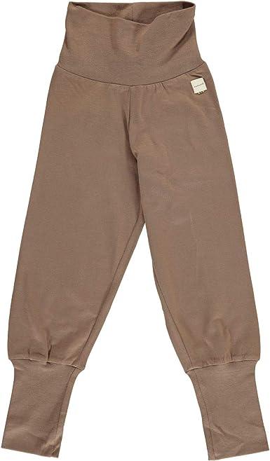 Maxomorra - Pantalones para bebé (algodón Bio), Color marrón: Amazon.es: Ropa y accesorios