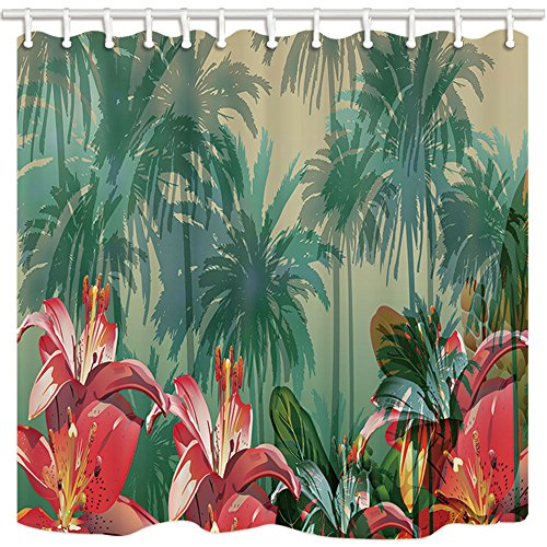 bright colored shower curtains - 4