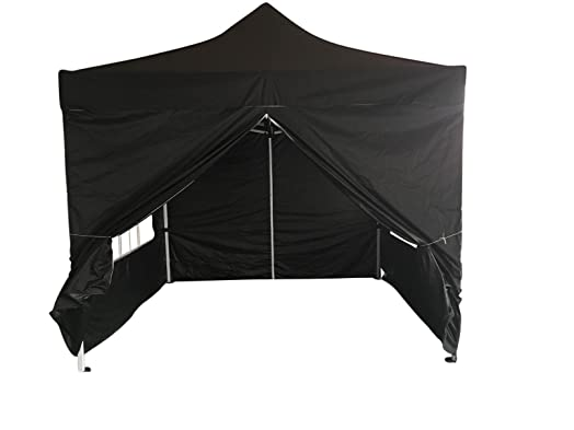 EazyGoods 3X3HDB Heavy Duty Pop Up Pyramid Roof Waterproof Gazebo Tent Marquee With Wind Bar