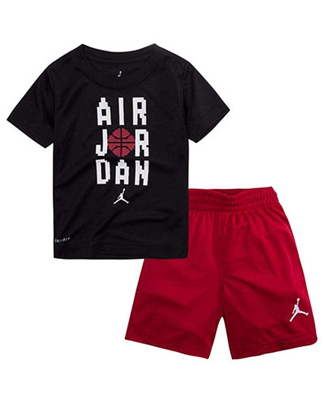 1aaf35dae429 Amazon.com  NIKE Jordan Toddler Boys 2 Piece Jumpan Pants   Top Set   Clothing