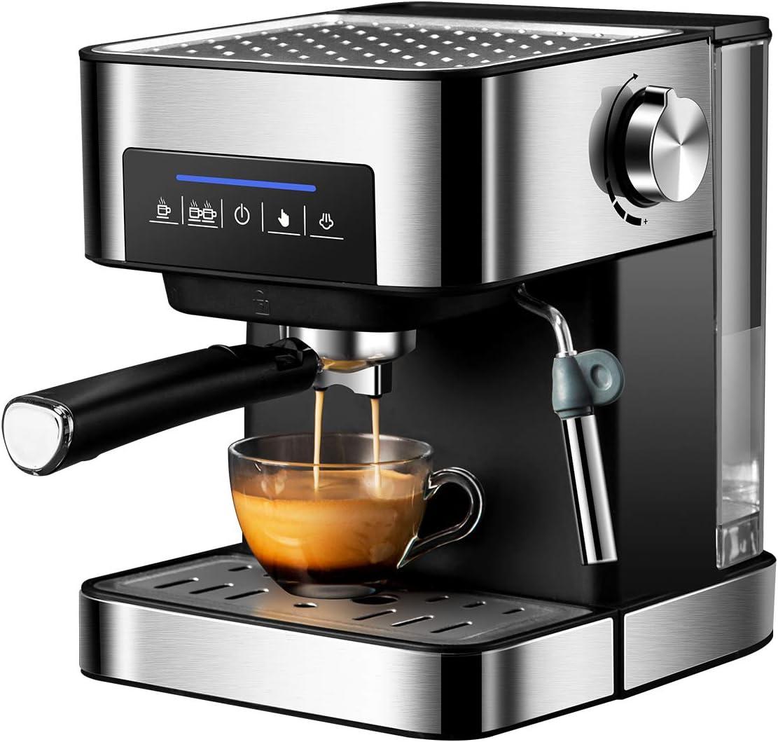 PDX Cafetera Superautomática,Cafetera para Espresso y Cappuccino,20 Bares,1.5L(Plata): Amazon.es: Hogar