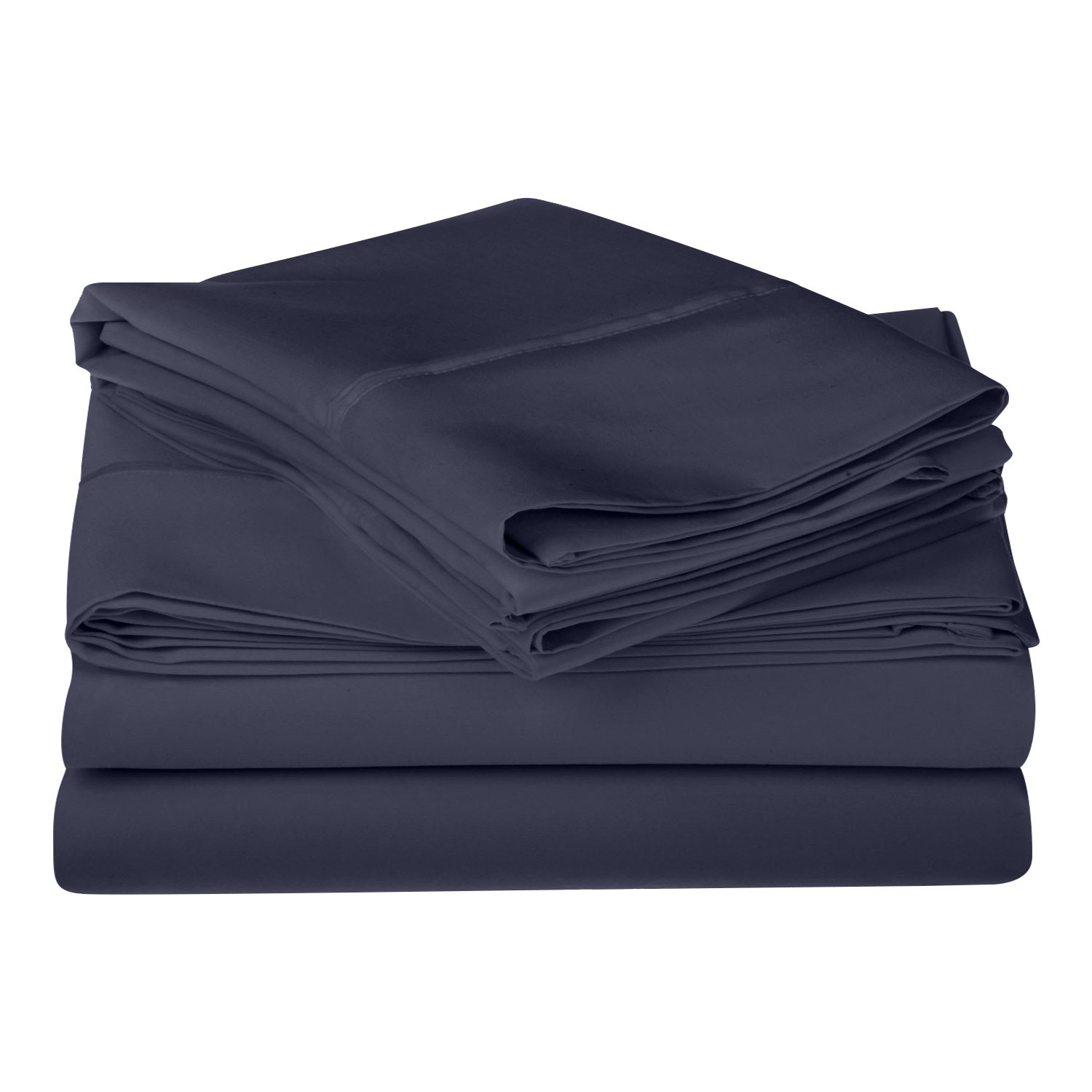Navy bluee California King 1200 Thread Count 100% Egyptian Cotton, Single Ply, California King Bed Sheet Set, Solid, Navy bluee