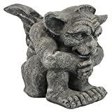 Design Toscano Emmett the Gargoyle Gothic Decor Statue, Small 10 Inch, Polyresin, Greystone