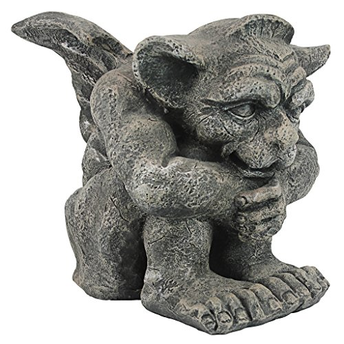 Design Toscano CL0883 Emmett The Gargoyle Gothic Decor Statue, Small 10 Inch, -