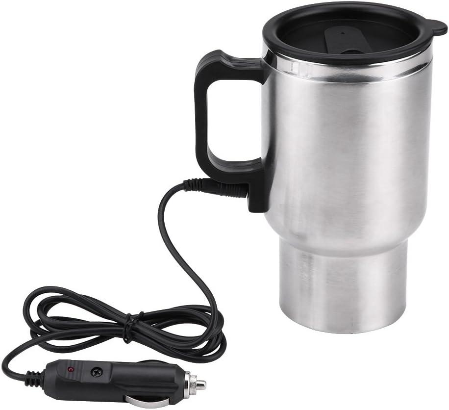 Taza de calefacción del Viaje, Taza de calefacción eléctrica del Viaje del Acero Inoxidable del Coche 12V 120w 450ml para el Coche del té del café