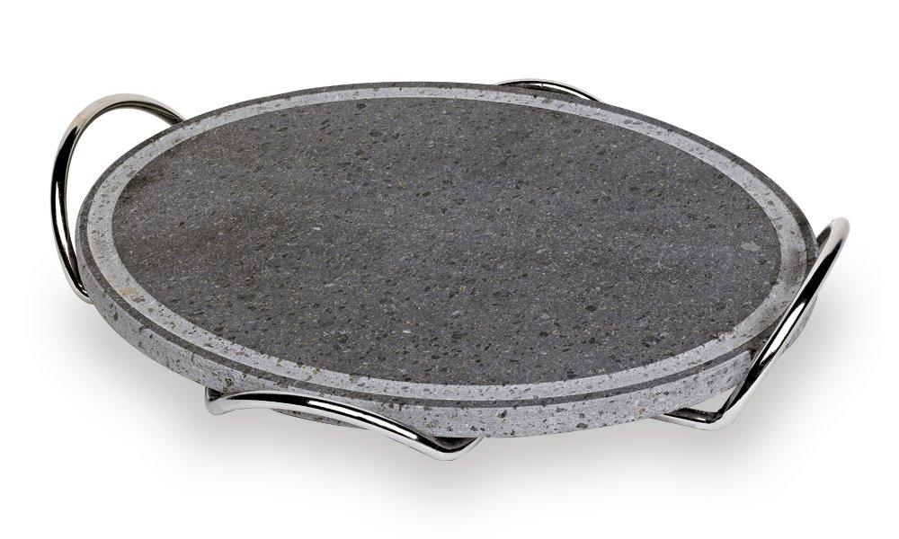 Fuego Style 1 Placas De Piedra Volcánica con marco cromado, gris ...