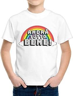 thedifferent Body T-Shirt Neonato Manica Lunga Unisex Bambino Bambina Andr/à Tutto Bene