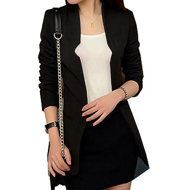 Black slim fit coat womens