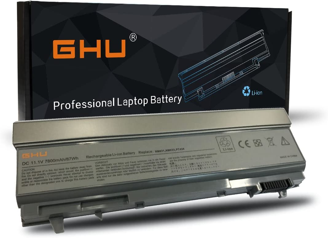 New GHU Battery 87 WHR for dell Latitude Laptop Battery KY265 PT434 4M529 KY477 4N369 for E6400 E6410 E6510 E6500 M4500 312-0749 F8TTW FU274 FU571 KY266 MN632 MP303 MP307 PT437 M2400 M4400 M4500