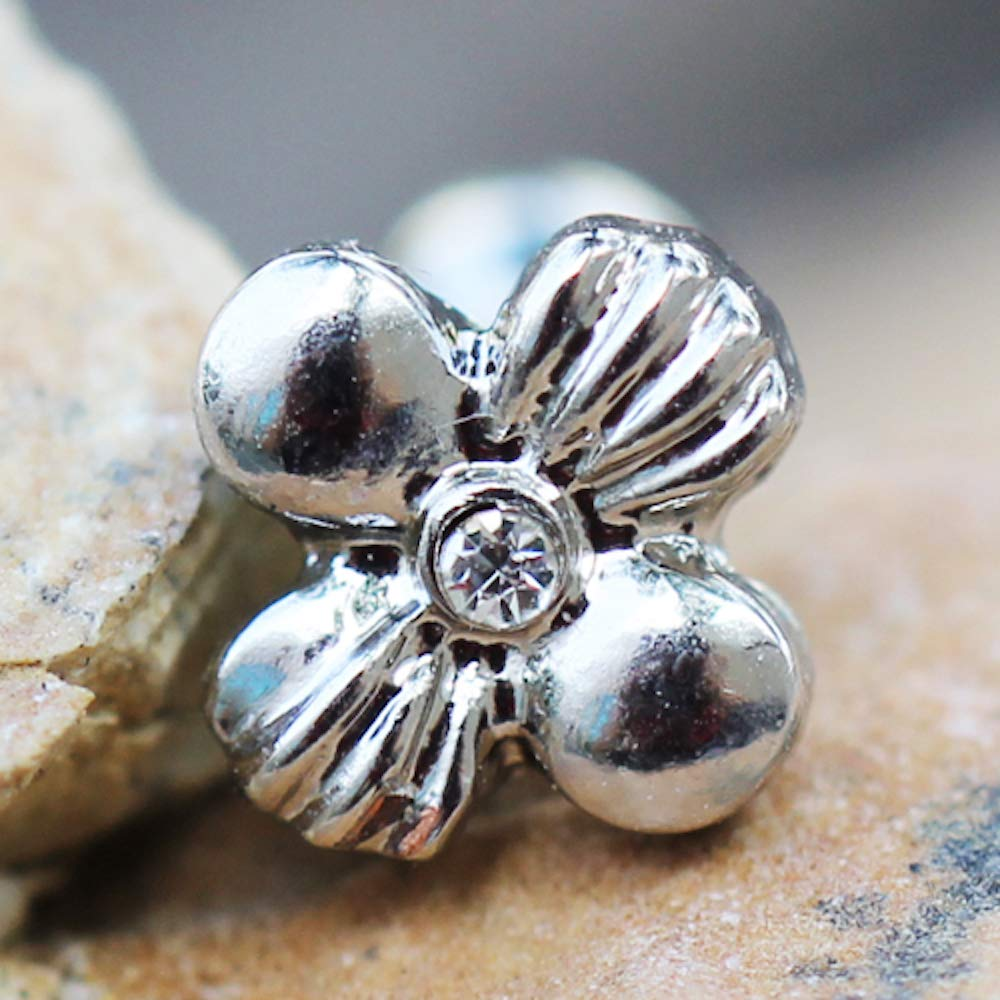 Covet Jewelry 316L Stainless Steel Charming Wildflower Cartilage Earring