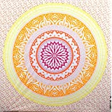 Large Yellow Orange Rising Mandala Tapestries India , Hippi Tapestry Wall Hanging, Indian Tapestry, Hippie Dorm Tapestries , Wall Tapestry, Ombre Mandala Tapestries