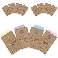 GREENSLEEVES Paper Soap, 12 Boxes Total 300 Sheets Portable Hand Washing Soap Sheets Lemongrass Lavender Ocean Rose Soap…