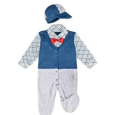 anja-wendt - Grenouillère - Bébé (garçon) 0 à 24 mois Gris/bleu