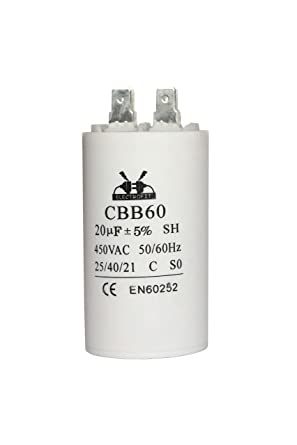 Condensador del motor 450V 20uF CBB60