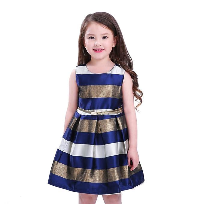 Vestido Noche Formal Yying Vestido Fiesta Princesa Vestido Fiesta Niños Vestido Tutú Azul Oscuro-6022