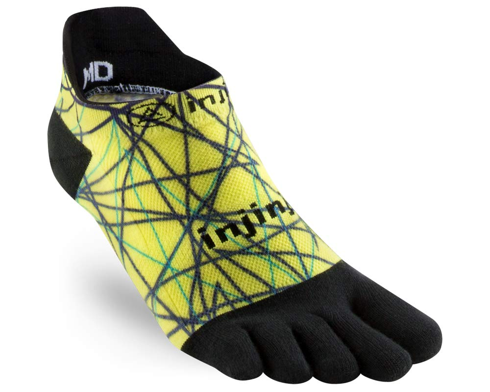 Injinji Run Original Weight No-Show Toesocks (Medium, Lime) by Injinji