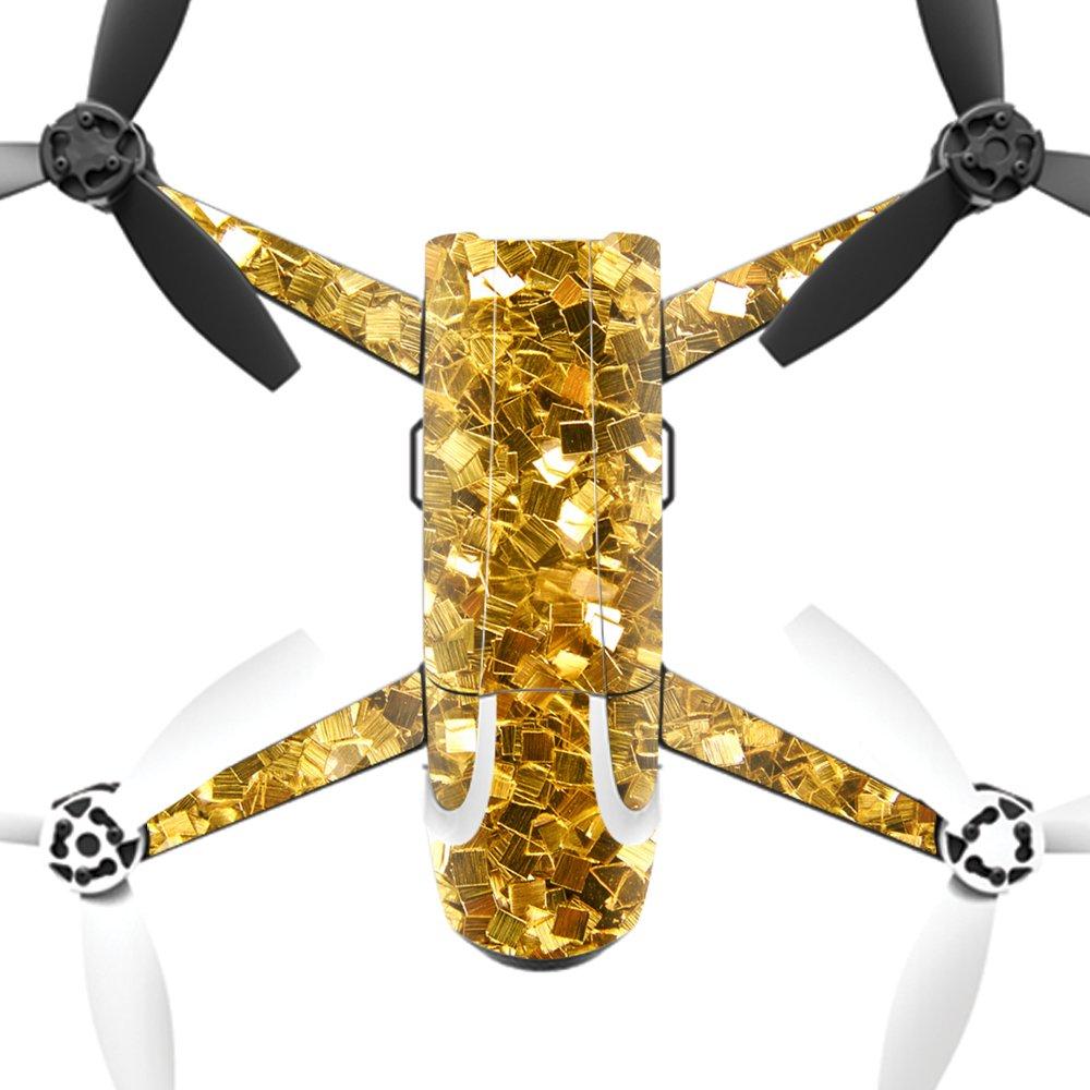 MightySkins スキンデカールラップ オウムステッカー保護カバー 100色展開, Minimal Drone & Controller Coverage, PAANAMIN-Ripped B01MRWNNAR Parrot Bebop 2|Gold Chips Gold Chips Parrot Bebop 2
