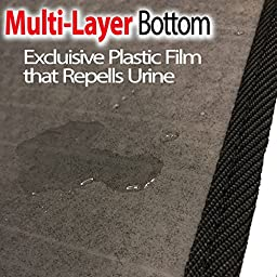 XL Cat Litter Trapper With Exclusive Urine/Waterproof LAYER ONLY by iPrimio. EZ Clean. Soft & Light. Black Color. Urine pad Feature. Patent Pending