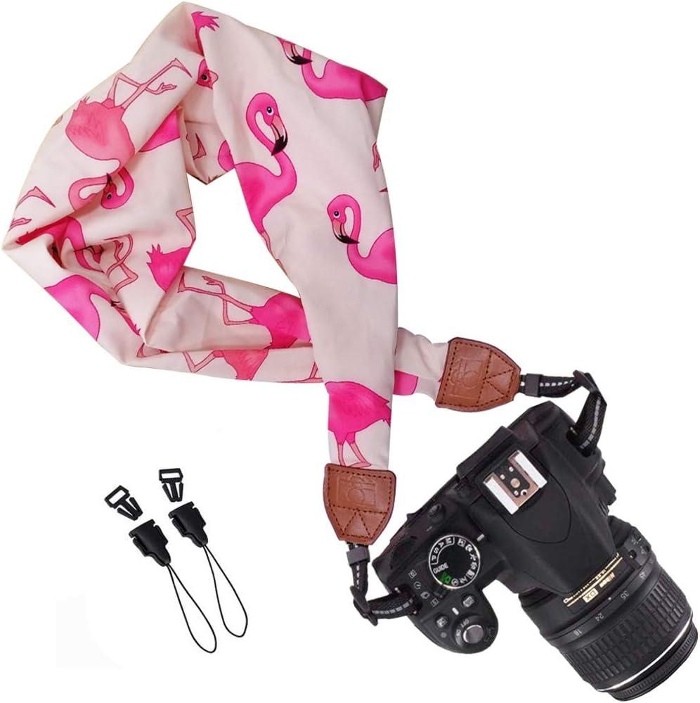 Correa De C/ámara Flamingo ZSWQ Suave Bufanda Cuello para C/ámara Correa 1pcs Ideal para Fot/ógrafos Profesionales En Actividades Al Aire Libre Bufanda C/ámara