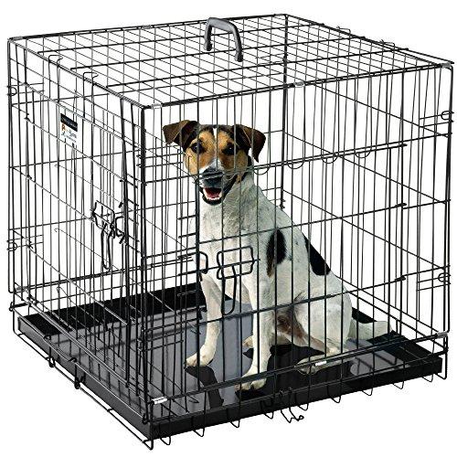 Pet Trex 2200 24 Inch Dog Crate Folding Pet Crate Double ...
