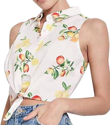 WINWINTOM Blusas y Camisas de Mujer, Verano Casual Camisetas ...