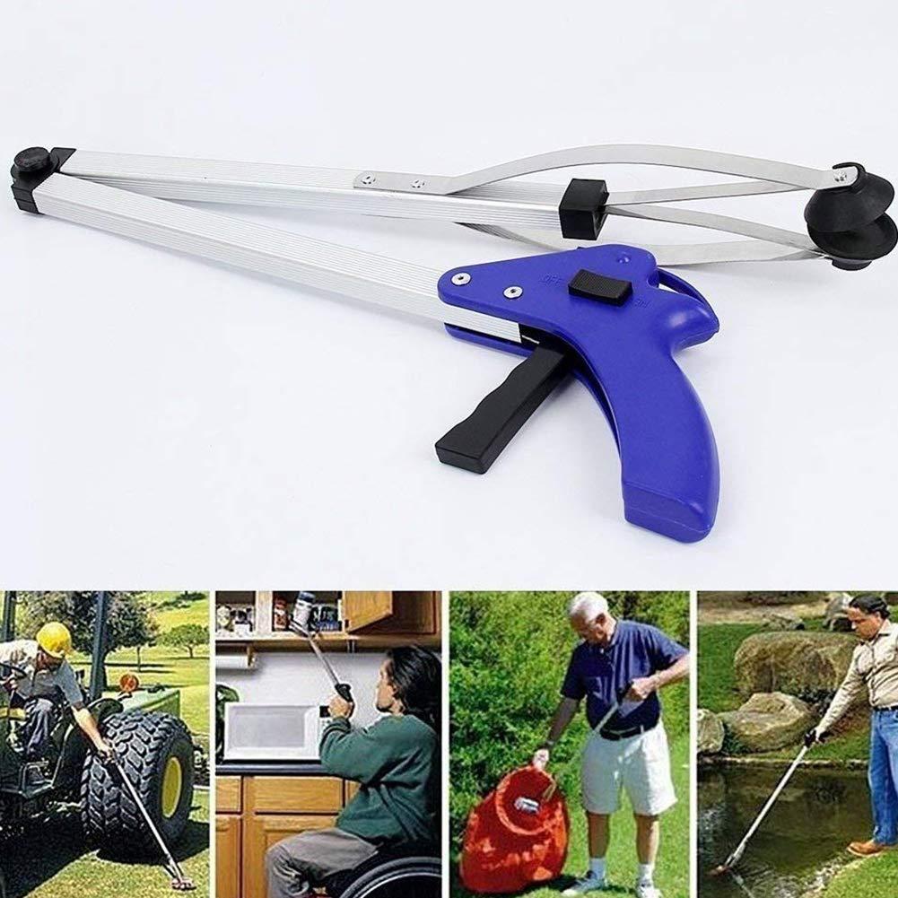 Hemore Foldable Pick Up Grabber Lightweight Extender Gripper Tool Long Duty Mobility Aid Durable Trash Picker
