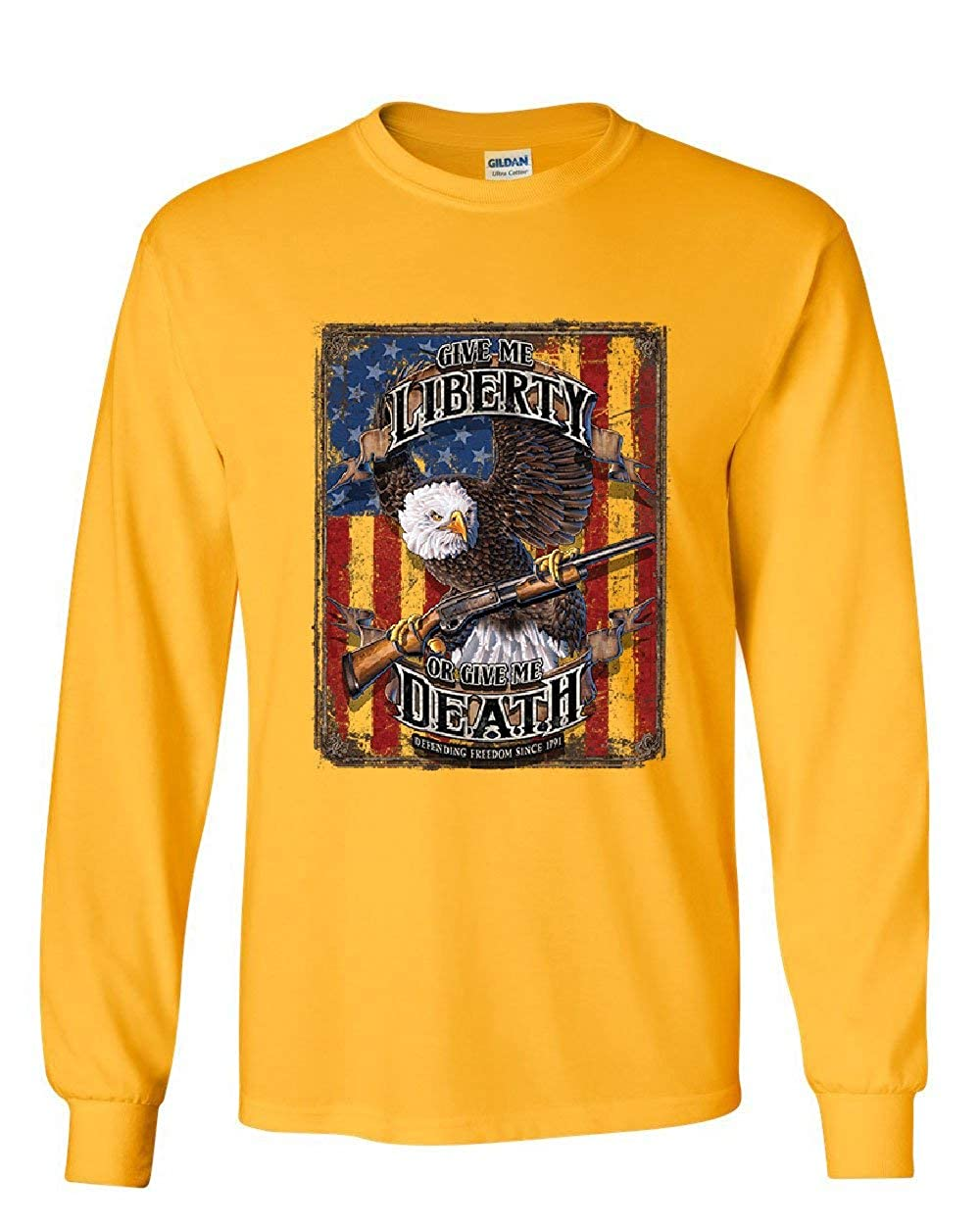 Give Me Liberty Give Me Death Long Sleeve T-Shirt Eagle Defend Freedom 2A Tee