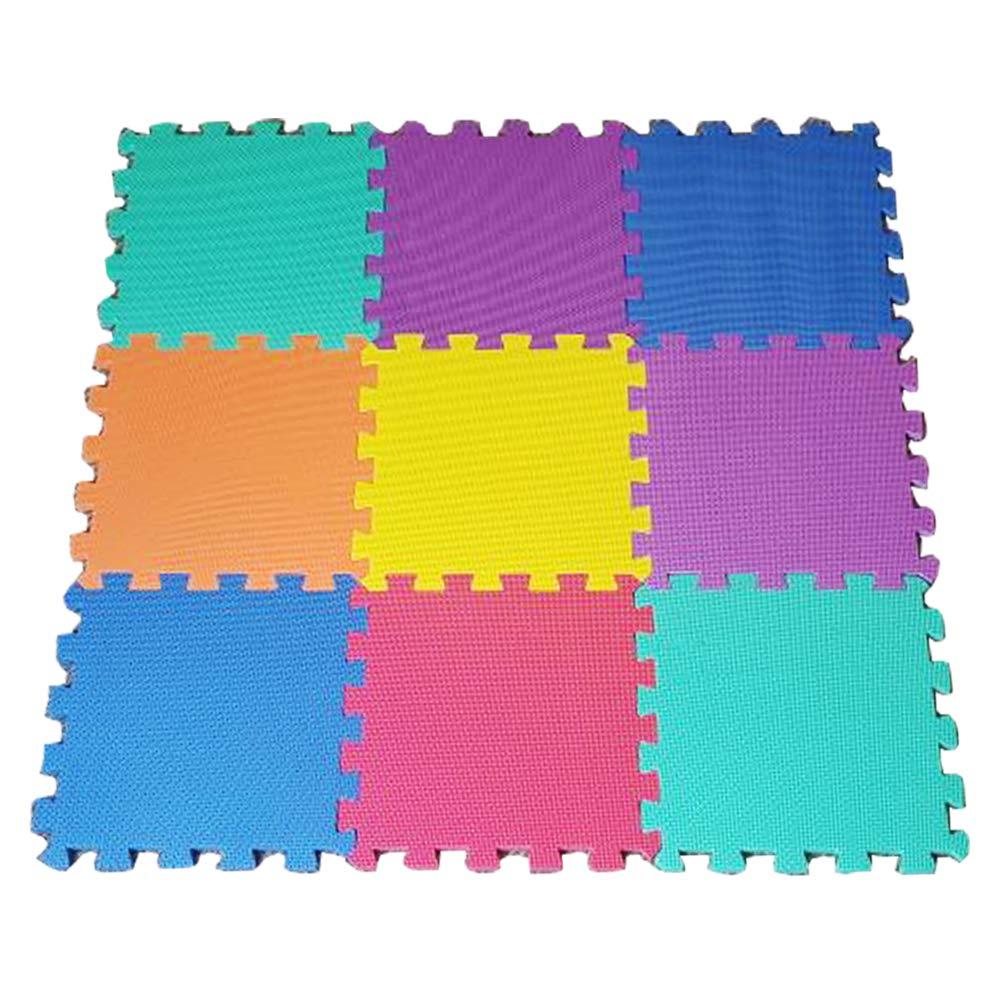 9 Alfombras Puzzle EVA Coloridas Alfombras de Foam Encajables para Actividades Infantiles en el Piso Stomping Ground Toys