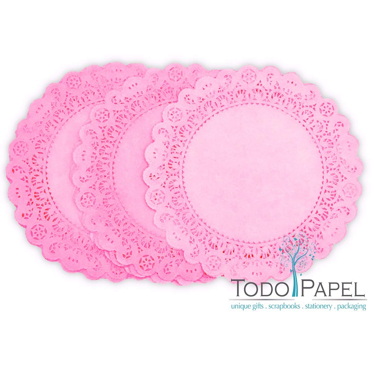 25 Pack -10 inch Pastel Blush PINK Paper Lace Color DOILIES | Individually Quality Hand Dyed For Wedding, Baby Shower and Party Event Table Decor | Use as Elegant Plate Charger Placemats, Invitations