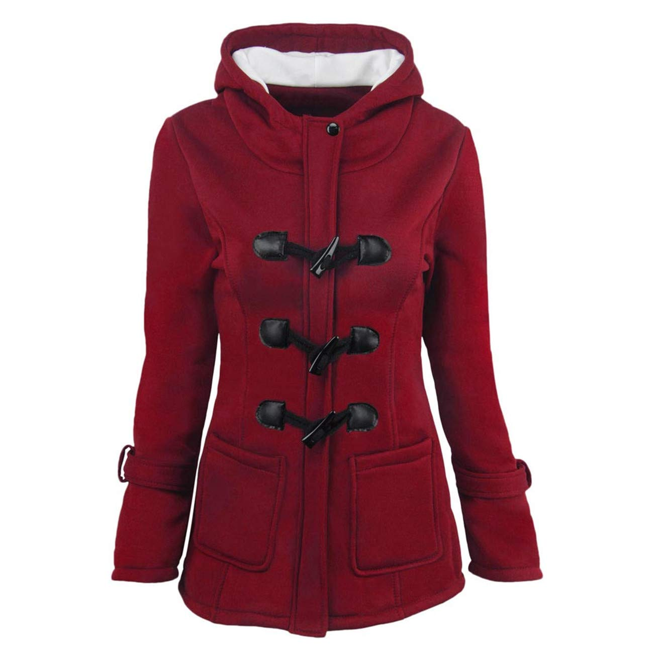 AMUSTER -Inverno Autunno Donna Elegante Cerimonia Fashion Casual Giacca A Vento in Lana Calda Slim Long Coat Jacket Trench