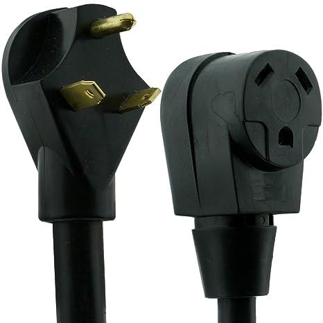 30 Amp Rv Plug >> Nu Cord 94582 40 Feet 30 Amp Rv Extension Cord