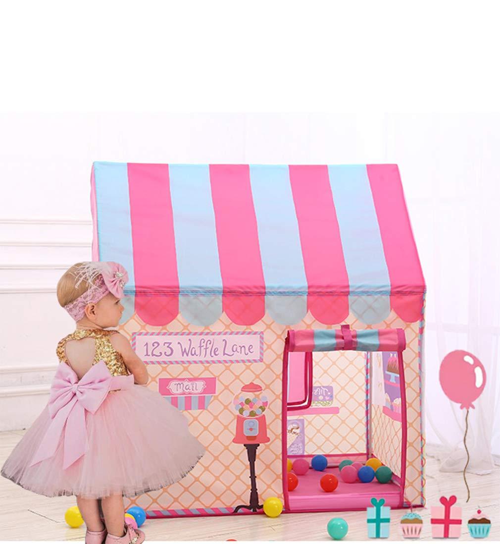Ankecity ガールズ プリンセス プレイテント ガールズ アイスクリーム ベーカリー ショップ プレイハウス キャンディハウス ピンク TENT -2 B07JD9ZZHC ピンク