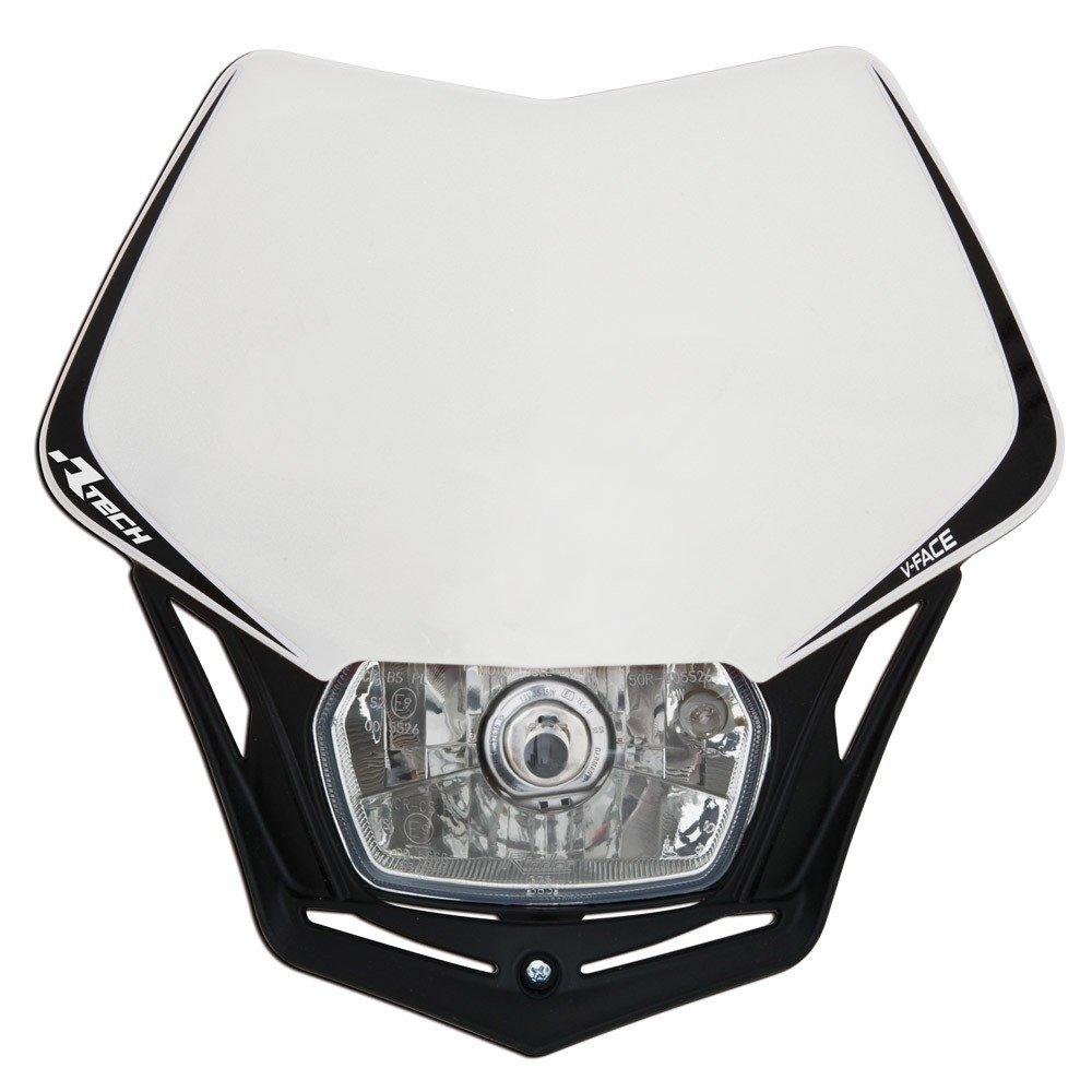 Fanale da moto V-Face, maschera per fanale, Bianco/ nero universale, 35/35 W + luce di posizione R-Tech R-MASKBNNR008