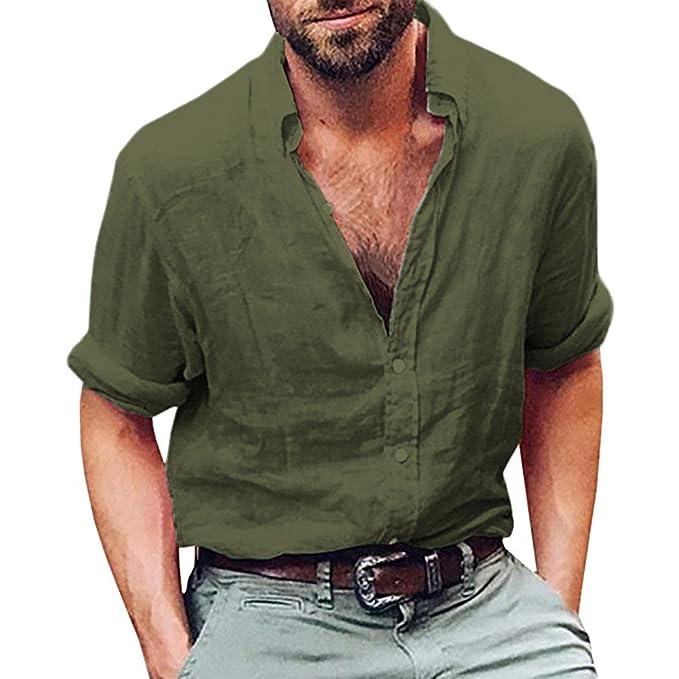witsaye Maglie a Manica Lunga da Uomo Camicia da Maglietta Camicie Slim  Elegante Lunga f1ffc3290ce
