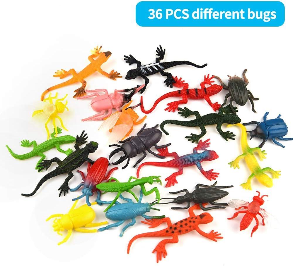 8pcs//set Plastic Insect Reptile Model Figures Kids Favor Educational Toys NWUS