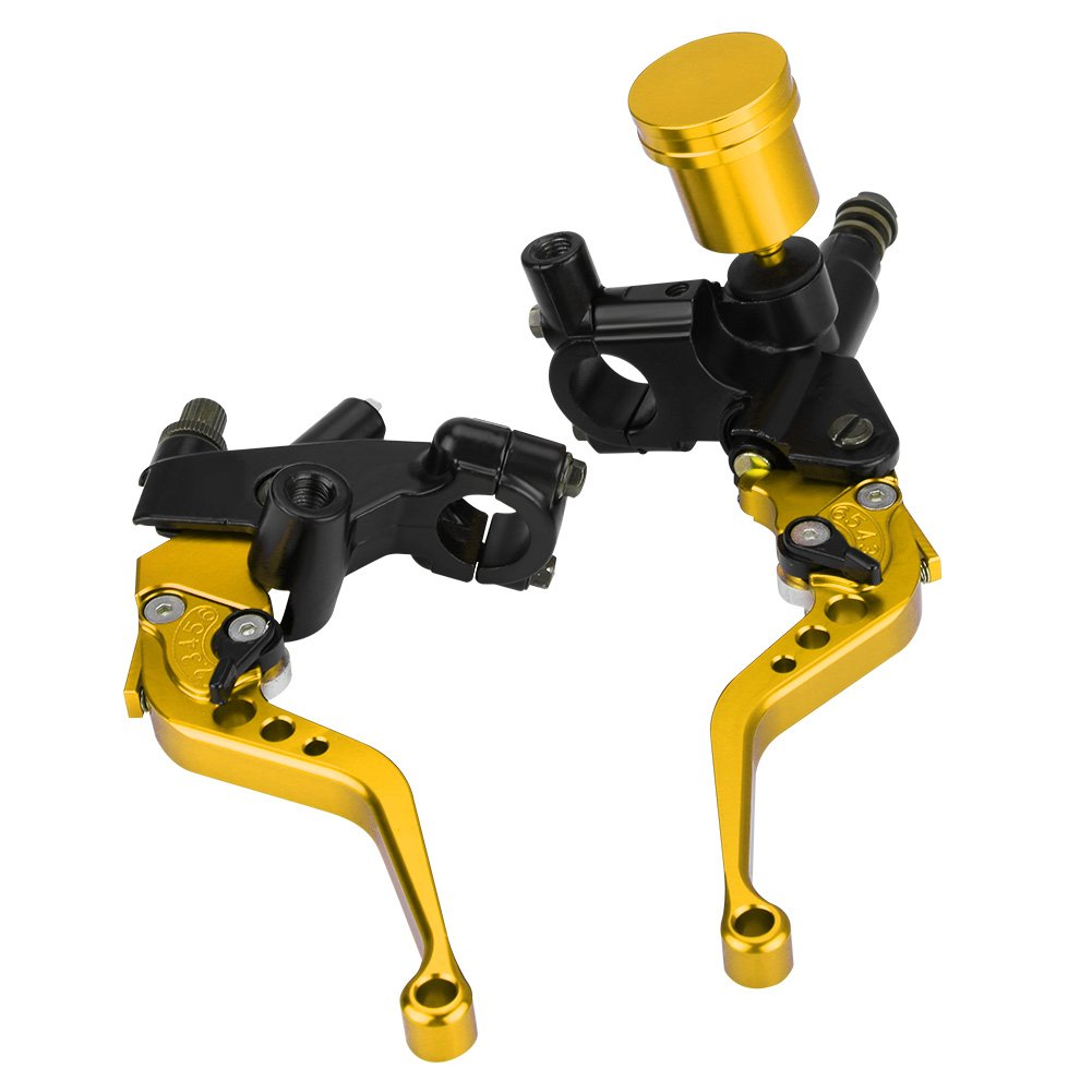 kimiss 1/Pair of 22/mm Hydraulic Pump Brake /& Clutch/ /CNC Adjustable Motorcycle Brake Lever The Cylinder default red