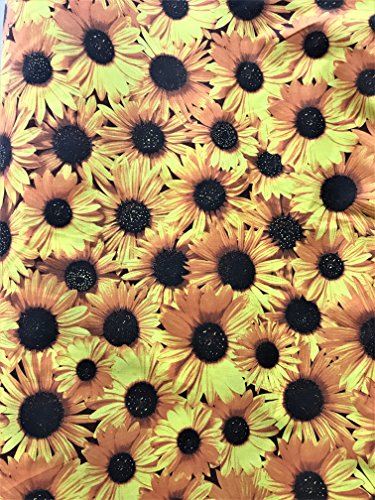 (All Over Sunflower Poly Cotton Print Fabric by The Yard )