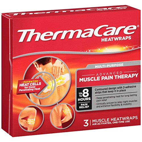 ThermaCare Multi-Purpose Muscle Pain Therapy Heatwraps ,3-Count  ( Pack of 3 )